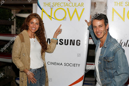 "Dylan Lauren, left, and producer Andrew Lauren, right, attend a special screening of A24's ""The Spectacular Now"" hosted by The Hollywood Reporter & Samsung with The Cinema Society at The Crow's Nest on in Montauk, New York"