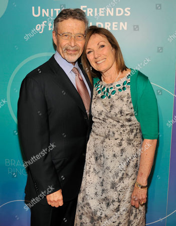 Honoree Wendy Smith Meyer, Ph.D, right, and her husband Barry Meyer, Chairman of Warner Bros. Entertainment, pose together at the United Friends of the Children Brass Ring Awards Dinner at the Beverly Hilton Hotel on in Beverly Hills, Calif