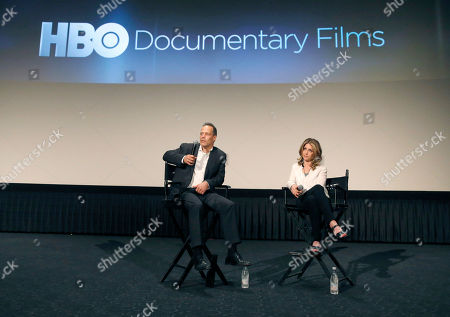 Director Sebastian Junger and VP of HBO Documentary Films Sara Bernstein attend HBO Documentary Films' Which Way Is the Frontline From Here: The Life and Time of Tim Hetherington Los Angeles Premiere, on in Los Angeles