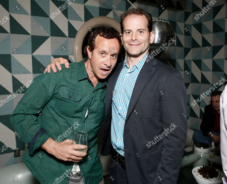Stock Photo of COMMERCIAL IMAGE - Pauly Shore and Phase 4's Berry Meyerowitz attend the Phase 4 Films Annual Cocktail Party on in Los Angeles