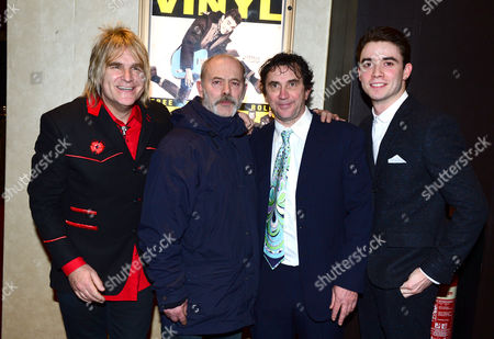 Mike Peters, Keith Allen, Phil Daniels, Jamie Blackley and Miguel Demelo at the UK Gala Screening of Vinyl at the Empire Leicester Square in London on