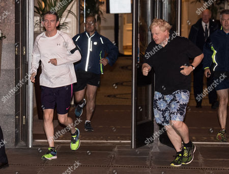 Stock Image of Tony Gallagher and Boris Johnson
