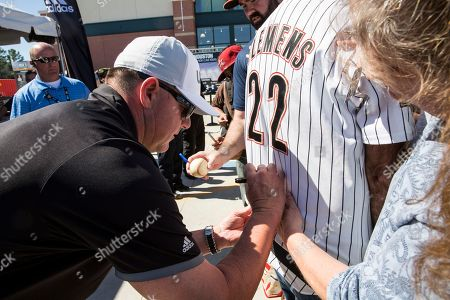 Baseball legend Roger Clemens signs autographs at DICK'S Sporting Goods Grand Opening at Willowbrook Mall in Houston, TX on