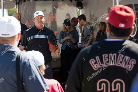 Baseball legend Roger Clemens does a Q&A with fans at DICK'S Sporting Goods Grand Opening at Willowbrook Mall in Houston, TX on