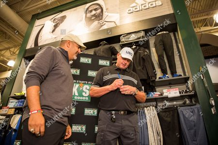 Baseball legend Roger Clemens signs autographs at DICK'S Sporting Goods Grand Opening at Willowbrook Mall in Houston on