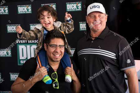 Baseball legend Roger Clemens greets fans at DICK'S Sporting Goods Grand Opening at Willowbrook Mall in Houston, TX on