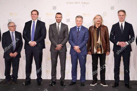 Irving Azoff, Guest, David Beckham, Robert G Goldstein, Joe Walsh, Guest