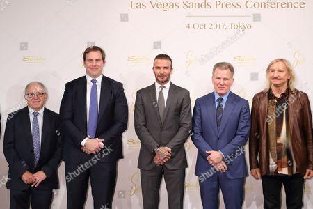 Irving Azoff, Guest, David Beckham, Robert G Goldstein, Joe Walsh