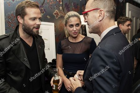 Stock Photo of Simon Spurr, left, Erika Bearman and Steven Kolb are seen at Launch of DETAILS x CFDA Menswear Initiative,, in New York