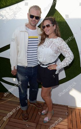 Jade Jagger and husband DJ Adrian Fillary in the VIP Lounge at Barclaycard presents British Summer Time in Hyde Park, London, on