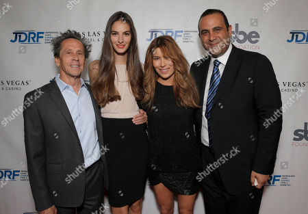 Brian Grazer, Emina Cunmulaj, Veronica Smiley and Sam Nazarian attend JDRF LA's 11th Annual Imagine Gala Red Carpet, on Saturday, May, 3, 2014 in Century City, Calif