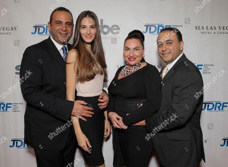 Sam Nazarian, Emina Cunmulaj, Angela Melamed and Baze Melamed attend JDRF LA's 11th Annual Imagine Gala Red Carpet, on Saturday, May, 3, 2014 in Century City, Calif