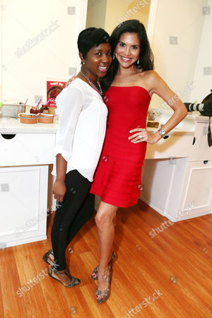 Riqua Hailes and Joyce Giraud at Joico's Style For a Cure presented by Just Extensions Salon held at Just Extensions Salon in Los Angeles