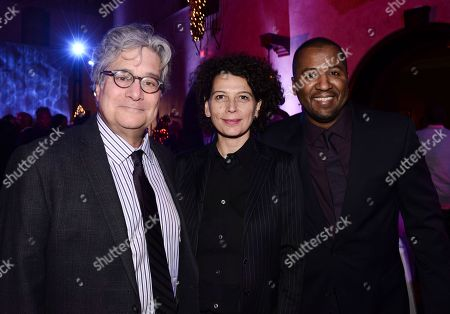 """Producer Sean Daniel, left, writer and director Malcolm D. Lee, right, and Universal Pictures Chairman Donna Langley attend the after party for the world premiere of the feature film """"The Best Man Holiday"""" at the TCL Chinese Theatre on in Los Angeles"""