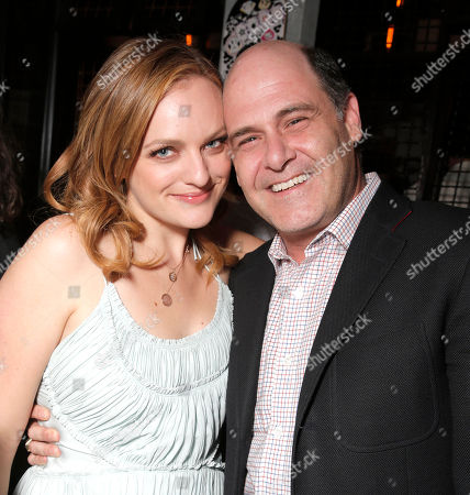 Elisabeth Moss and Matt Weiner attend the after party for the premiere of RADIUS-TWC's 'The One I Love' at the Vista Theatre on in Los Angeles