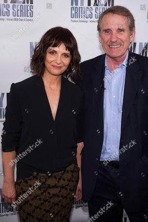"Juliette Binoche and Peter Travers attend a New York Film Critics Series screening of ""1,000 Times Good Night"", in New York"