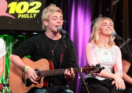 Ross Lynch and Rydell Lynch of the band R5 visit the Q102 Performance Theater, in Philadelphia