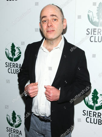 "Todd Barry attends Sierra Club's ""Act in Paris"", a night of comedy and climate action, at The Heath at The McKittrick Hotel, in New York"