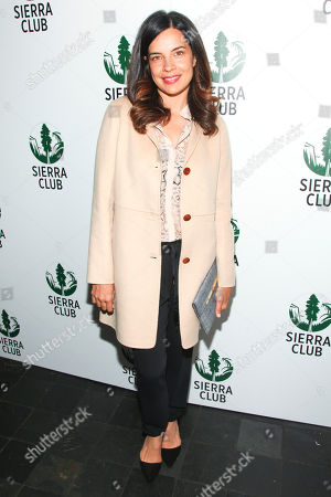 """Zuleikha Robinson attends Sierra Club's """"Act in Paris"""", a night of comedy and climate action, at The Heath at The McKittrick Hotel, in New York"""