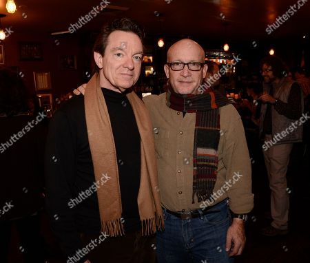 Director Alex Gibney, right, and author Lawrence Wright seen at The Hollywood Reporter Studio at Sundance on in Park City, Utah