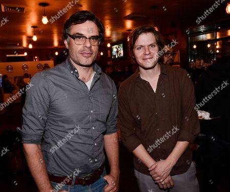 Actor Jemaine Clement, left, and director Jim Strouse seen at The Hollywood Reporter Studio at Sundance on in Park City, Utah