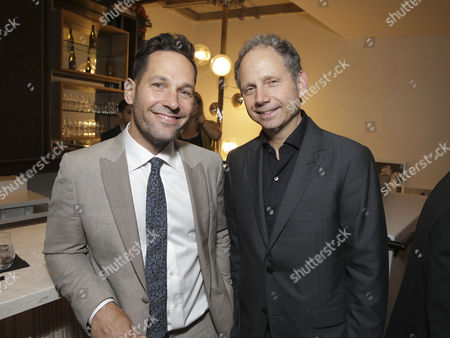 """Stock Picture of Paul Rudd and Director Rob Burnett seen at Netflix original film special screening of """"The Fundamentals of Caring"""" at Arclight Hollywood, in Los Angeles, Ca"""