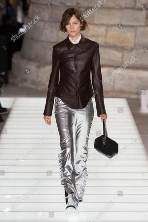 Editorial photo of Louis Vuitton show, Runway, Spring Summer 2018, Paris Fashion Week, France - 03 Oct 2017