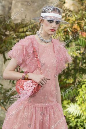 Stock Image of Lia Pavlova on the catwalk