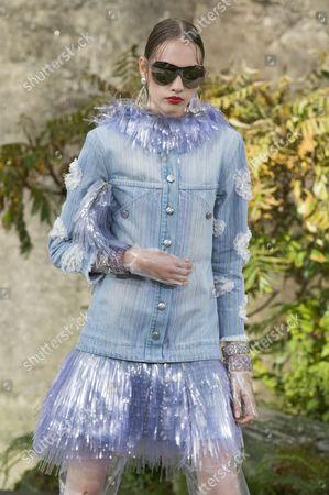 Stock Image of Odette Pavlova on the catwalk