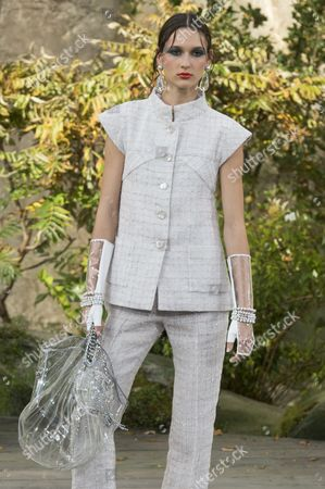 Editorial picture of Chanel show, Runway, Spring Summer 2018, Paris Fashion Week, France - 03 Oct 2017