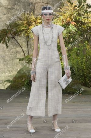 Stock Photo of Irina Djuranovic on the catwalk