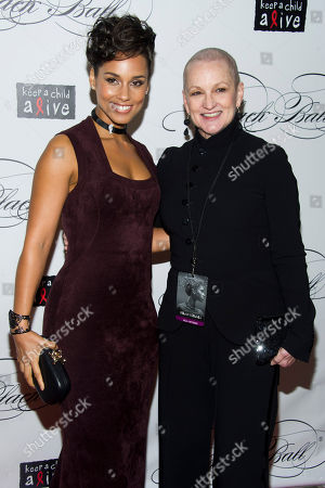 Stock Photo of Alicia Keys and her mother Teresa Augello attend the Keep a Child Alive's ninth annual Black Ball on in New York