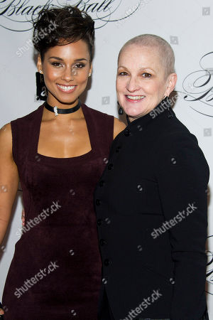 Stock Image of Alicia Keys and her mother Teresa Augello attend the Keep a Child Alive's ninth annual Black Ball on in New York