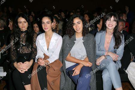 Kristina Bazan, Irina Lakicevic, Amy Verner and Daisy Lowe