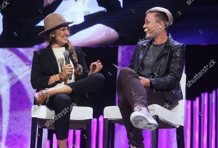 Abby Wambach, Alexis Jones. Abby Wambach, right, and Alexis Jones talk during Together Live at Bass Concert Hall, in Austin