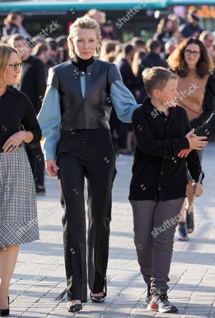 Editorial picture of Louis Vuitton show, Arrivals, Spring Summer 2018, Paris Fashion Week, France - 03 Oct 2017
