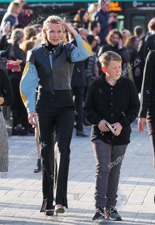 Stock Image of Cate Blanchett and son Roman Robert Upton