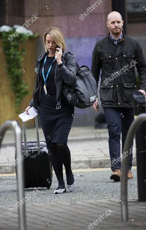 Laura Kuenssberg and bodyguard