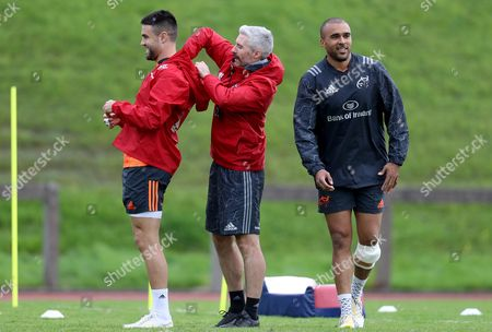 Conor Murray, Head of fitness Aled Walters and Simon Zebo