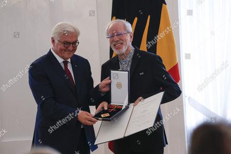 Stock Picture of Frank-Walter Steinmeier, Herr Gidon Kremer (Laufen)