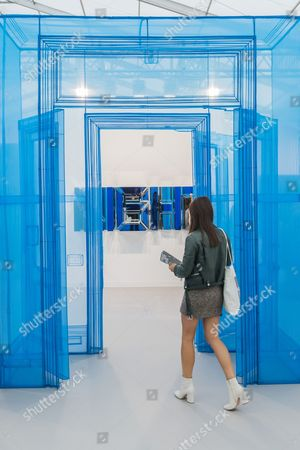 Stock Picture of Main Entrance 388 Benefit Stret by Do Ho Suh - The Frieze Art Fair in Regents Park. It remains open till 8 Oct 2017.