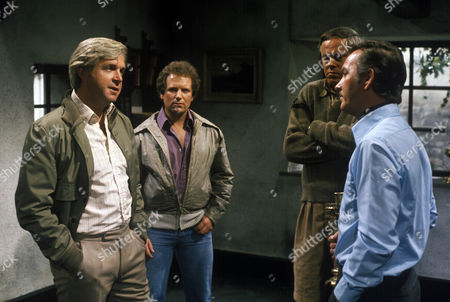 Stock Image of 'The Wilde Alliance'  - The Private Army of Colonel Stone - TV - 1978 - John Stride, Philip McGough, Anthony Dutton and John Fraser.