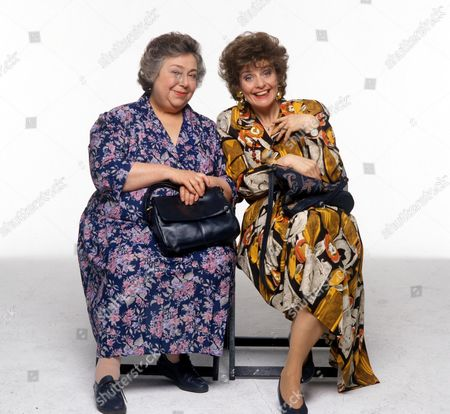 'Watching' - Mrs Stoneway [Patsy Byrne] and Mrs Wilson [Noreen Kershaw].