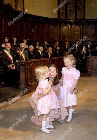 Princess Anne Marie de Bourbon, Princess Luisa, Markiezin Arquato and Princess Cecilia, Countess of Berceto