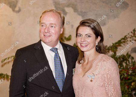 Prince Carlos of Bourbon-Parma and Princess Anne Marie de Bourbon