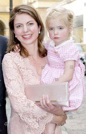 Princess Anne Marie de Bourbon and Princess Cecilia, Countess of Berceto de Bourbon de Parme