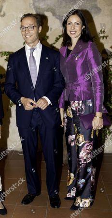 Prince Jaime of Bourbon-Parma, Count of Bardi and Princess Viktoria de Bourbon de Parme