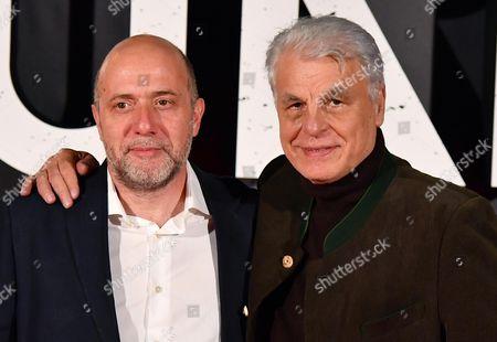 Italian directors Andrea Molaioli (L) and Michele Placido pose for the Italian premiere of ''Suburra La Serie'' in Rome, Italy, 04 October 2017.