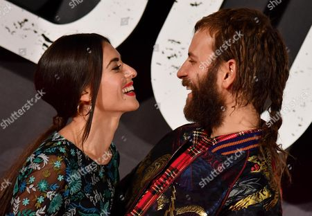Italian actor/cast member Alessandro Borghi and his girlfriend Roberta Pitrone pose for the Italian premiere of ''Suburra La Serie'' in Rome, Italy, 04 October 2017.