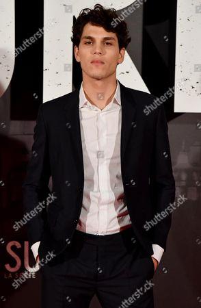 Italian actor/cast member Eduardo Valdarnini poses for the Italian premiere of ''Suburra La Serie'' in Rome, Italy, 04 October 2017.